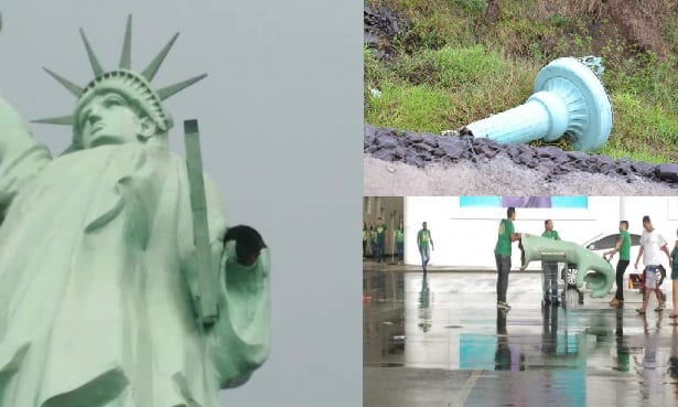 """73c4be8b662 Domingo – 11 00 – Estátua da Havan perde a mão e Daciolo avisa  """"Não  brinquem com Deus"""". Clique na foto abaixo e veja mais"""